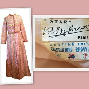 1960s French Vintage Lounging Robe/Dressing Gown